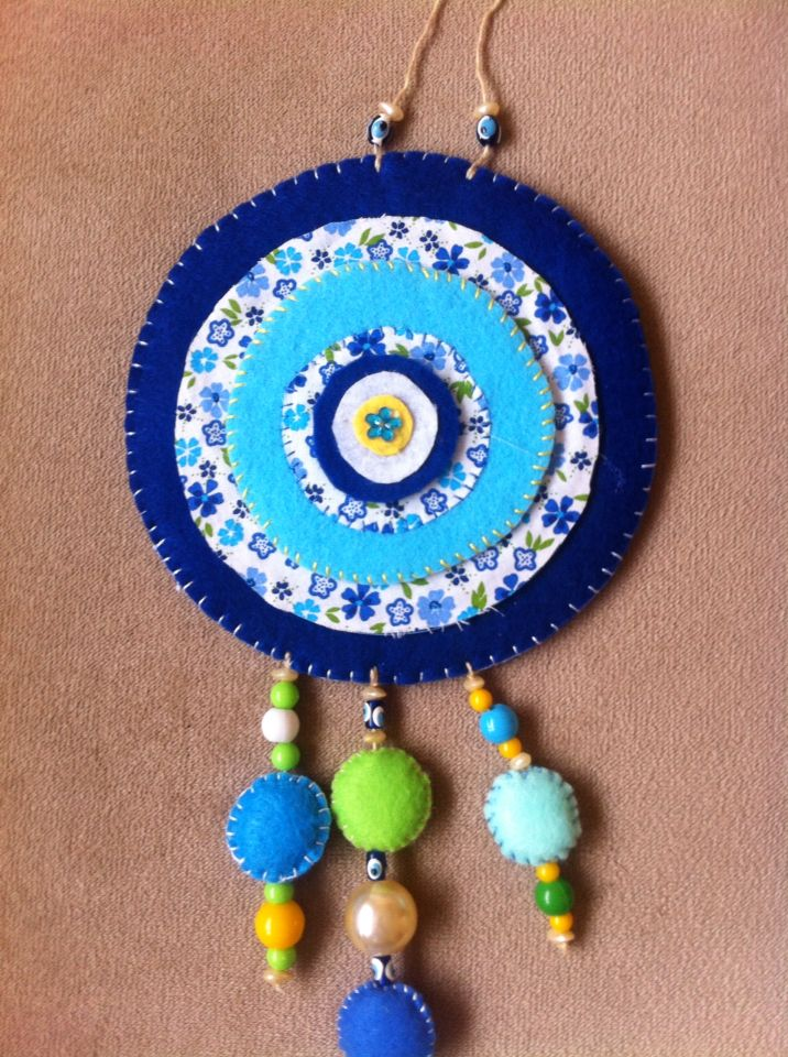 Dertdeva Teyze Production Handmade felt talismans -Nazarlık-