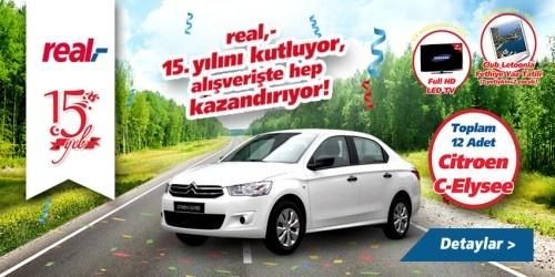Real 15.Yıl Çekiliş Kampanyası - Real Hipermarketleri Citroen Çekiliş Kampanyası  http://www.kampanya-tv.com/2013/04/real-15yl-cekilis-kampanyas-real.html