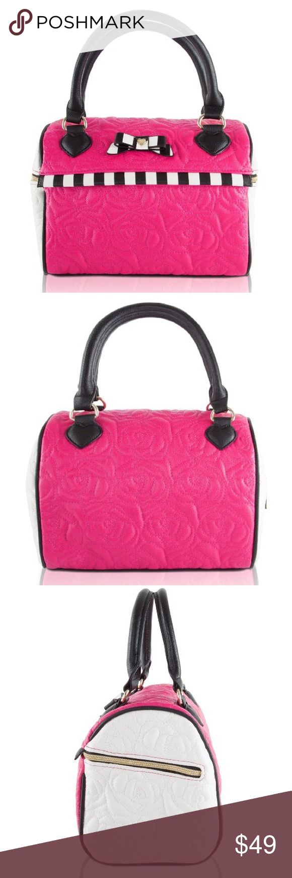 Betsey Johnson Speedy Lunch Tote Black Floral Pink Betsey Johnson Speedy Lunch Tote Black Floral Pink Betsey Johnson Bags