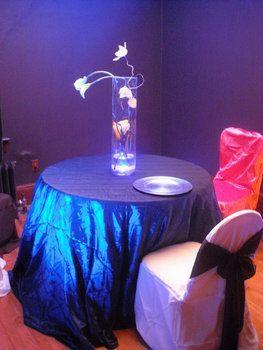 Cheap Round Taffeta Blue Wedding Tablecloth Sale