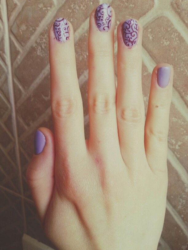 Romantic nails, violet nails, lila nails, 2016 nails