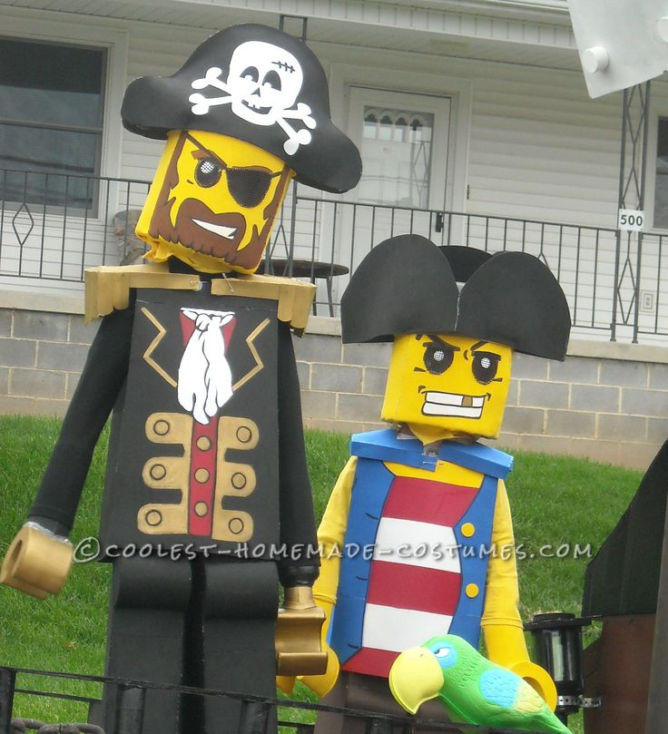 Cool Lego Pirate Costumes – Aargh! The Best and Most Difficult Costumes I've Ever Made... Coolest Halloween Costume Contest