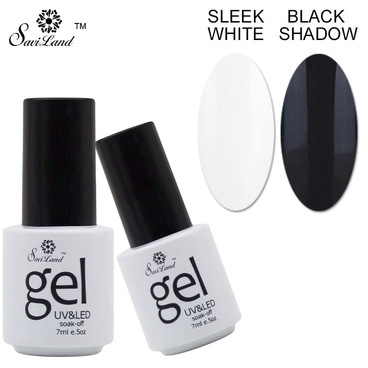 Saviland Long Lasting Black White Color French Manicure Tools Tip Guides Uv Gel Nail Polish Esmaltes Soak Off Gel Lacquer