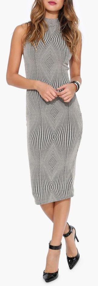 Diamond Midi Dress