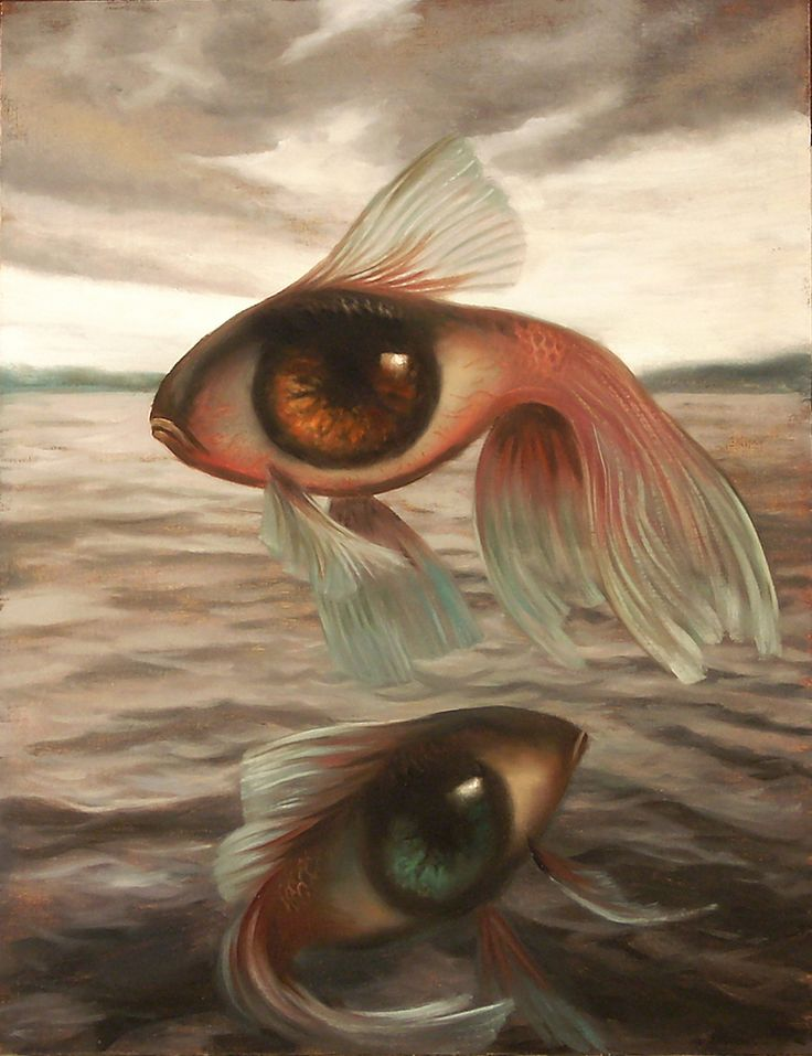 """Vincent Cacciotti, Fisheye, Oil on Canvas, 16""""H x 12""""W"""