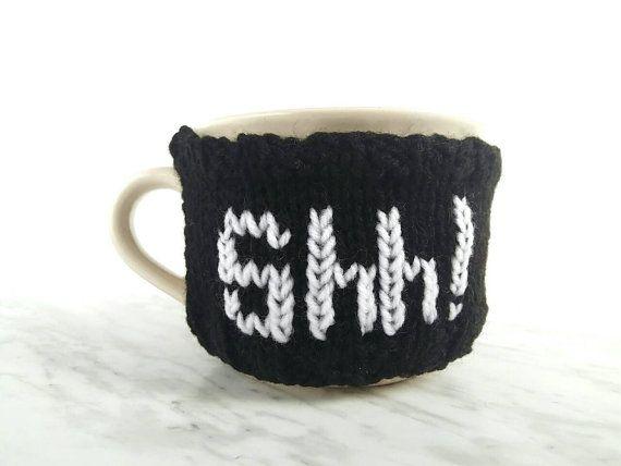Oversized Coffee Mug Warmer  Cappuccino Mug Cozy  by 3LittlePurls