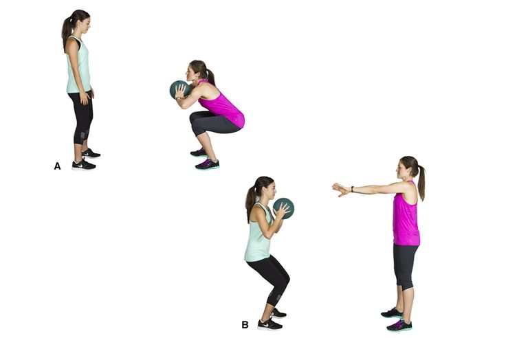 Squat to Medicine Ball Chest Press (partner)