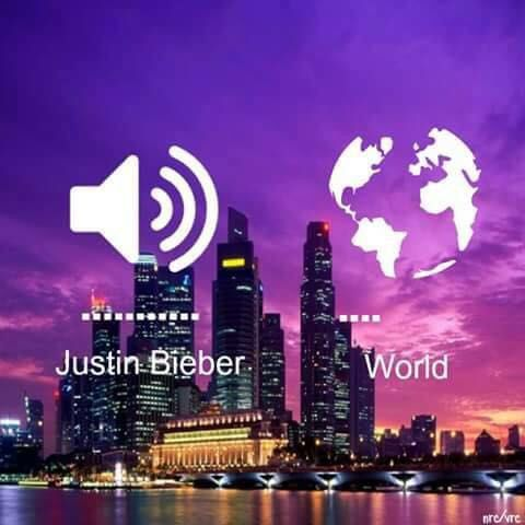Whenever I listen to Justin Bieber songs, the world is on mute