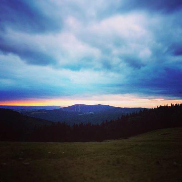 Krkonošský západ slunce