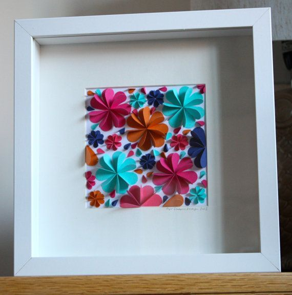 Hey, I found this really awesome Etsy listing at http://www.etsy.com/listing/173245041/framed-3d-colourful-blossoms-wall-art