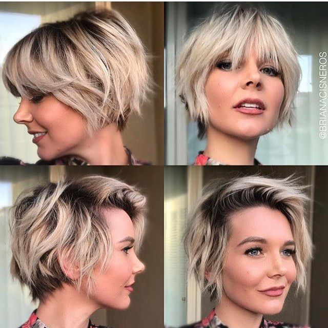 Different styles for a short blonde bob/ long pixie cut (@cabelocurtobr) on Instagram