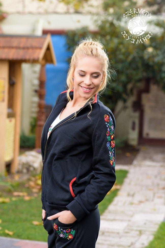 Szervető, cardigan, folk art, Hungary, embroidery, sweater, clothes, fashion