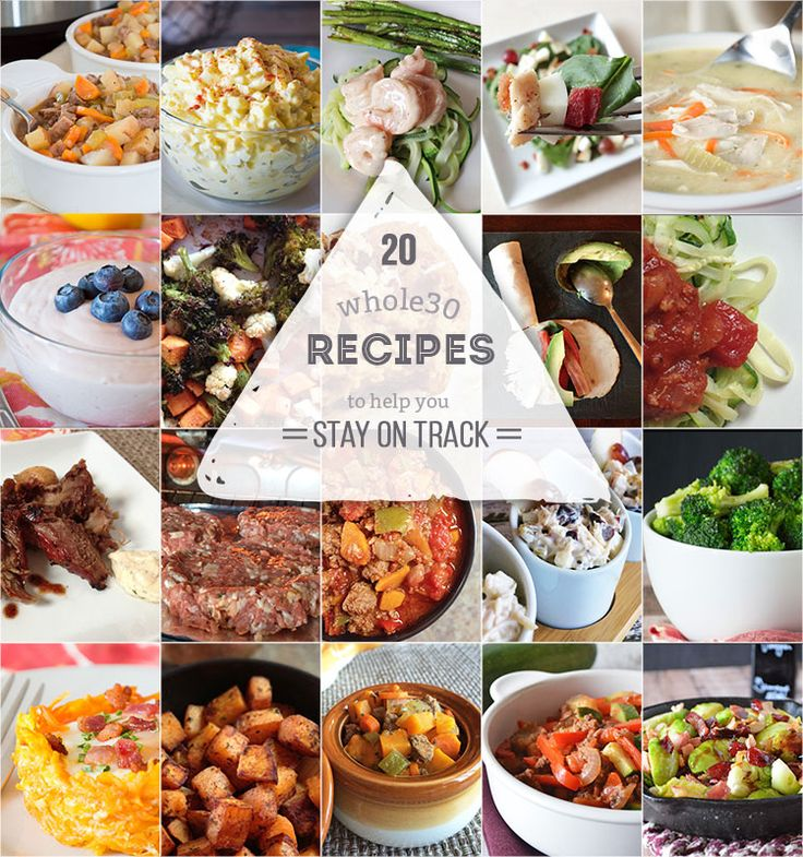20 Whole30 Recipes to Keep You On Track | Our Paleo Life Sweet potato souffles and turkey BLTAvocado roll-ups