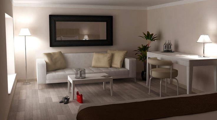 Rendering interni curati ed eleganti
