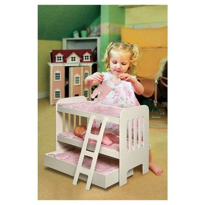 Badger Basket Trundle Doll Bunk Bed with Ladder