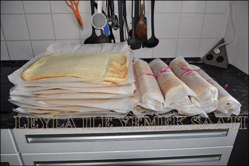 Pandispanya Tarifi Kermes için yaptığım ince pandispanyalarım.Bu pandispanyalardan hem rulo pastası yapabilirsiniz,hemde üst üste koyup kocaman bir dikdörtgen yaş pasta yapabilirsiniz.yani ortadan kesmeye gerek duymadan bu şekilde incecik pandispanyalar yapıp şahane yas pastalar yapabilirsiniz Arkadaşlar Bir Tane kek için gerekli Malzemeler : 4 yumurta ( akı ve sarısı ayrılıcak ) 4 yemek kaşığı sıcak su 160 gr tozşeker 160 gr un yarım çay kaşığı kabartma tozu Yapılışı : Yumurtaların sar...