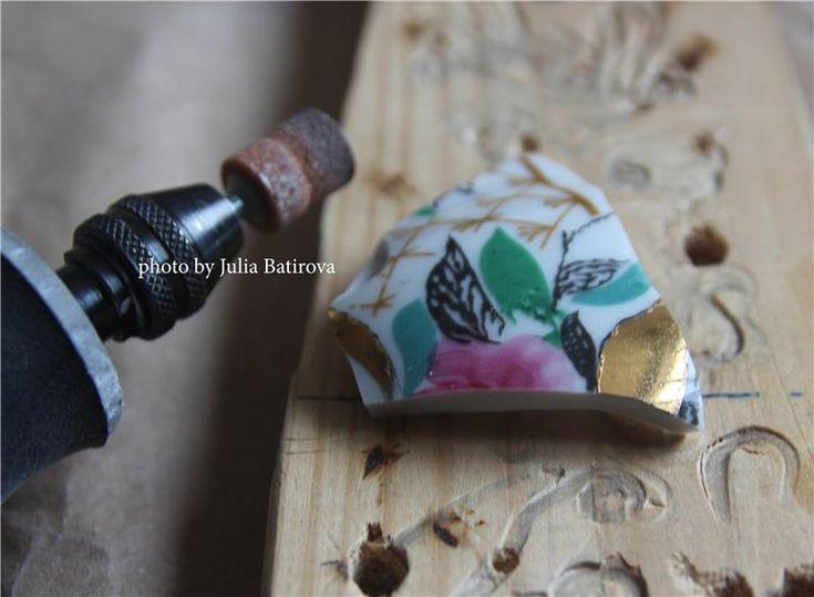 Если разбился бабушкин сервиз, или Превращаем осколки в кабошоны - Ярмарка Мастеров - ручная работа, handmade