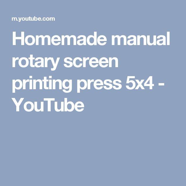Homemade manual rotary screen printing press 5x4 - YouTube