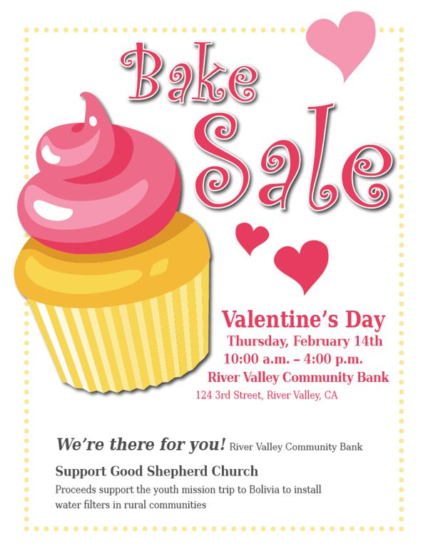 Best Bake Sale Images On   Bake Sale Flyer Flyers