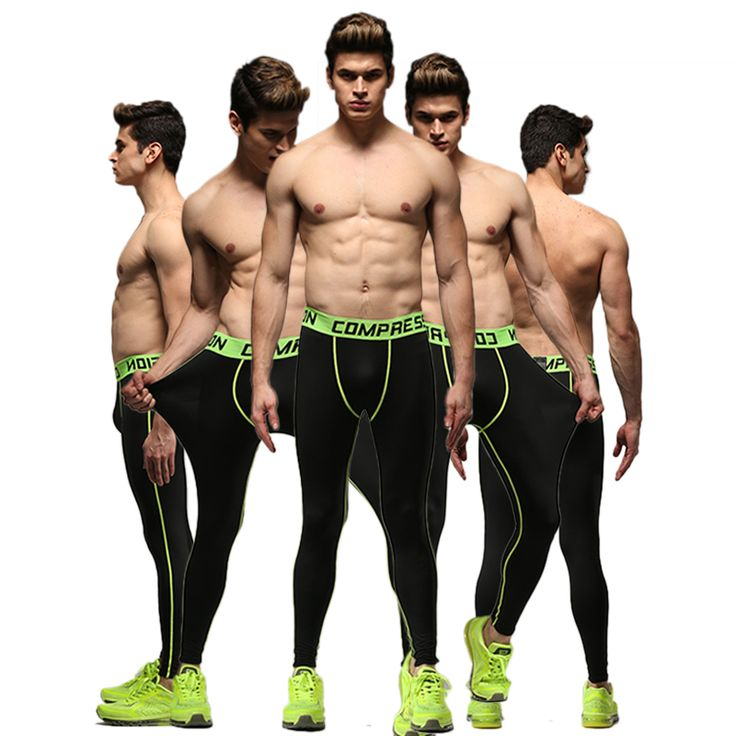 Active Elastic Waist Rugby tights trousers jogger sport man skinny legging running soccer training tights men's pants
