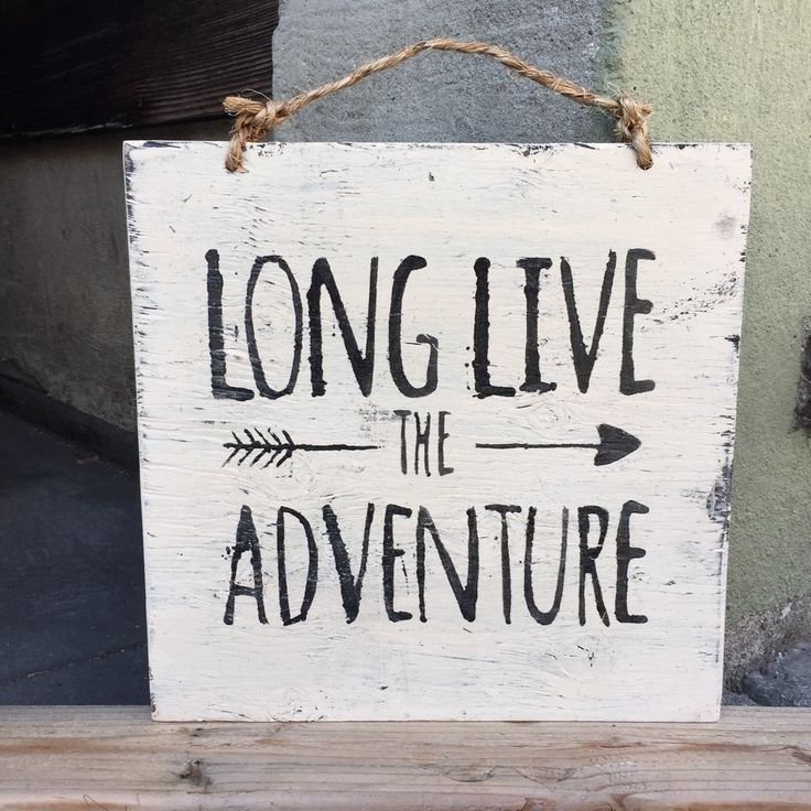 """This hand painted sign features a neutral ivory background with black writing. This piece hangs by rustic twine. It measures approximately 12"""" x 12"""". Every sign is handmade, therefore may slightly var"""