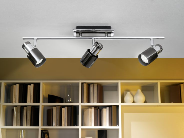 the davida1 led spotlight bar is a masculine fitting finished in a polished chrome and