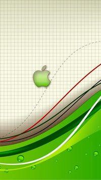 Apple wspinające się po przerywanej lini