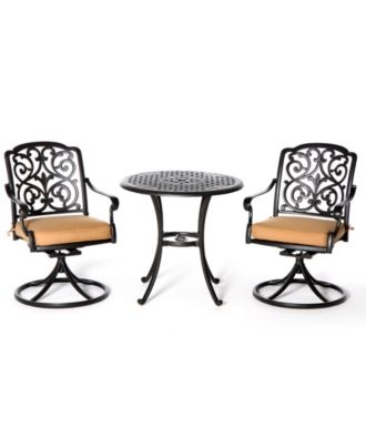 Montclair Outdoor 3 Piece Dining Set: 30 Round Cafe Table And 2 Swivel  Dining Chairs   Shop All Outdoor Small Spaces   Outdoor U0026 Patio Furniture    Macyu0027s