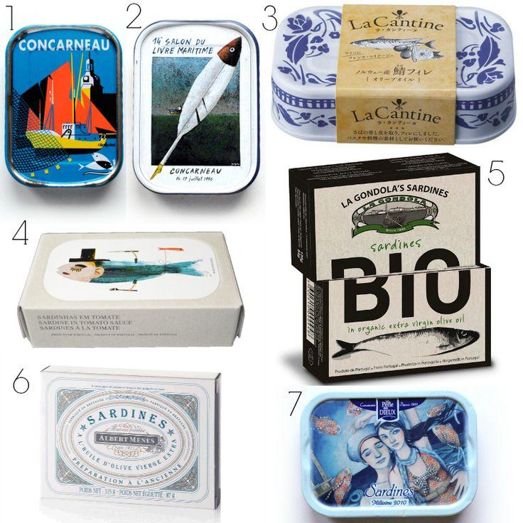 Packaging: especial sardinas en conserva | La Bici Azul: Blog de decoración, tendencias, DIY, recetas y arte