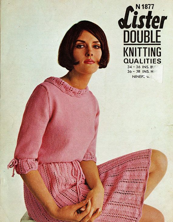 PDF Vintage Womens Ladies Dress Knitting Pattern like Crochet
