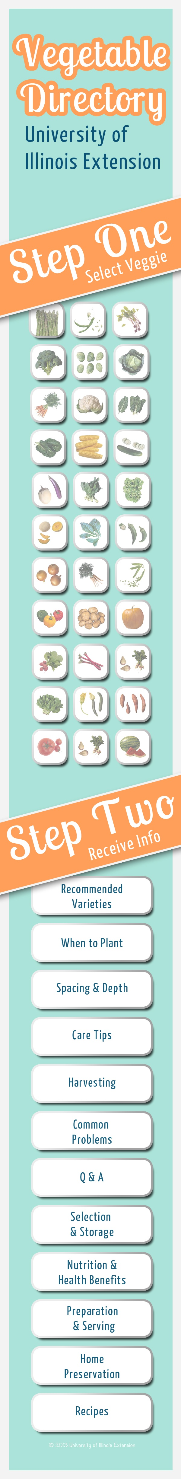 Pin Now For Gardening Season! An Excellent Veggie Gardening Resource From  University Of Illinois Extension