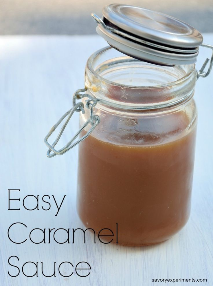 Easy Caramel Sauce- how to make the simplest and BEST caramel sauce EVER! Never buy store bought again.