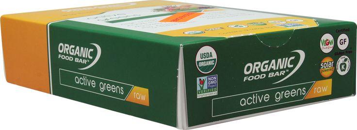 Organic Food Bar Raw Active Greens -- 12 Bars - Vitacost