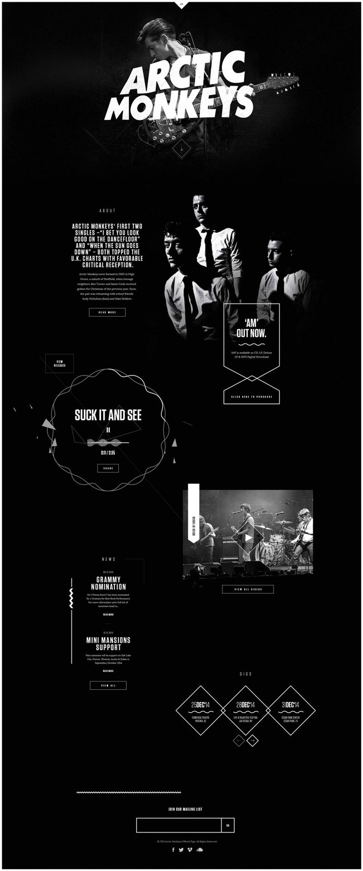 Creative Landing Pages // Beautiful Music Website Designs for Inspiration