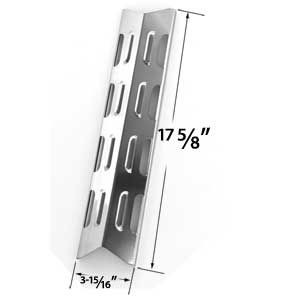 STAINLESS STEEL HEAT PLATE REPLACEMENT FOR BOND GSS2520JA, BBQTEK GSS3220JS, GSS3220JSN, PC25762, PC25774, PRESIDENTS CHOICE 10011012 , GSS2520JA (10011012, NG 524636) , GSS2520JAN (PC 10011013, NG 903455), BROILCHEF & TERA GEAR GAS GRILL MODELS