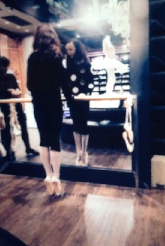 First pointe shoes