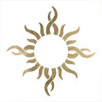 Gold Sun Tattoo belly button tat foil by goldenfeathertattoos