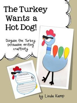 Thanksgiving Writing Activity-Students disguise Tom Turkey as the pigeon to keep him from being eaten on Thanksgiving!