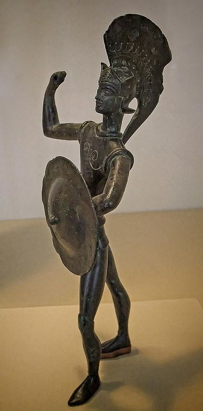 Warrior of northern Etruria or Umbria Etruscan early 5th century BCE Bronze | by mharrsch