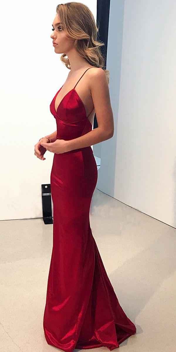 f5ffbd94180 SIMPLE BACKLESS DARK RED MERMAID LONG EVENING PROM DRESSES PG652   promdresses  eveningdress  mermaiddress  formaldress