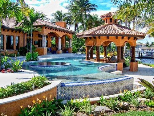 17 best 34-herrliche Pool-Gazebo-Ideen images on Pinterest - eine feuerstelle am pool