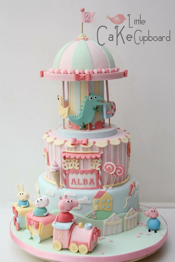 Peppa Pig Carousel Train Cake