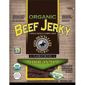 #8: Golden Valley Natural Organic Beef Jerky, Original, 3-Ounce Pouches (Pack of 8)