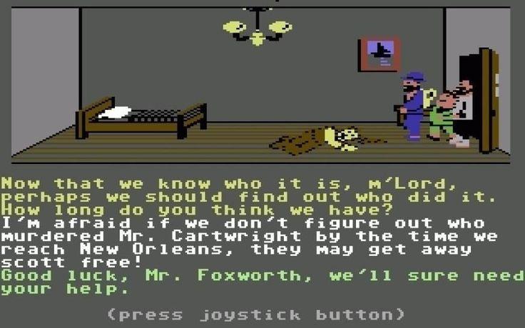 C64-Diskette mit zwei Spielen drauf.Auf der ersten Seite  Murder on Mississippi