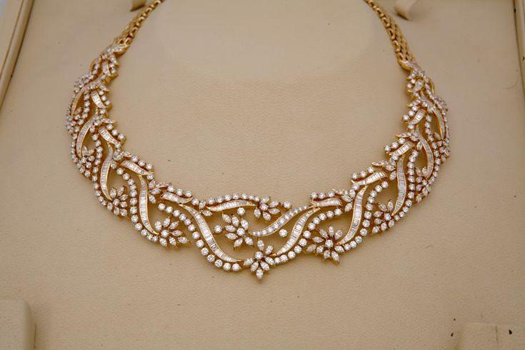 Indian Jewellery - Diamond necklace .