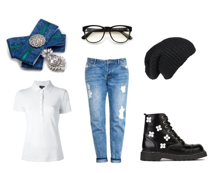 Just live your life any way you want. If you want to play causal, do it.   (Armani Jeans polo shirt, Classic Boyfriend jeans and black beanie, Anarchic boots, Wildfox eyeglasses, brooch by House of April)