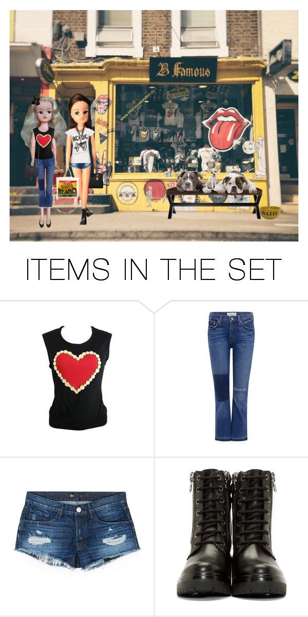 """""""~Rockin' In London ~"""" by jenisecor ❤ liked on Polyvore featuring art, jeans, denimshorts, Pitbulls and RockTShirt"""