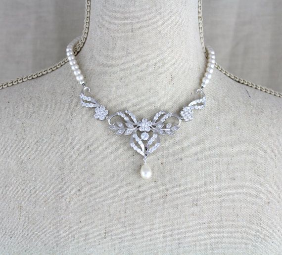 Bridal jewelry SET Bridal necklace Set Crystal by treasures570