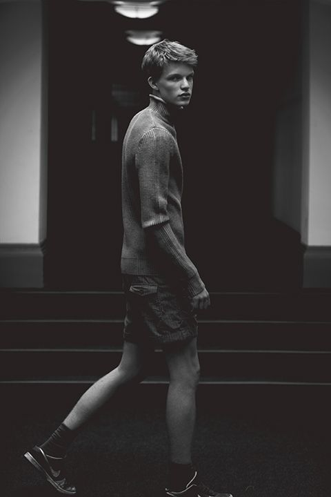 James B at Next Models London by Cecilie Harris for Boys by Girls. James wearsJumper by MANUEL RITZ, Shorts by CHAMPION. See all imageshere.