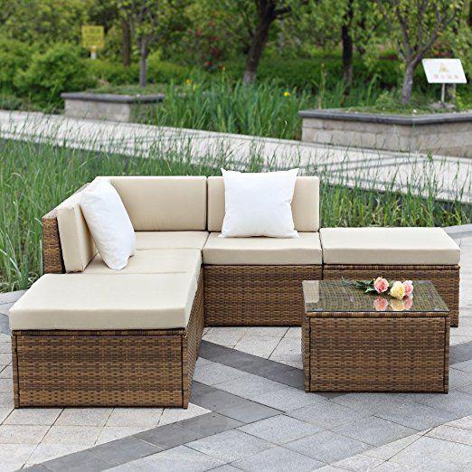 ikayaa h conjunto de muebles de jardn patio terraza aire libre sof de